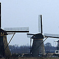 Kinderdijk Windmills 2 by Bob Christopher