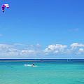 Kitesurfing In Kauai by Lynn Bauer