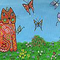 Kittyboy's Butterflies by Marilyn Ferguson