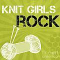 Knit Girls Rock by Linda Woods