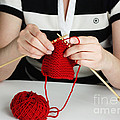 Knitting by Photo Researchers, Inc.