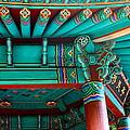 Korean Pagoda Detail by Karon Melillo DeVega