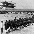 Korean Soldiers At The Old Royal Palace In Seoul - C 1904 by International  Images