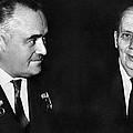 Korolev And Sheremetyev, Soviet Engineers by Ria Novosti