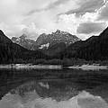 Kranjska Gora In Black And White by Ian Middleton