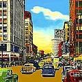 Kress And Woolworth's Stores In Seattle Wa In 1950 by Dwight Goss