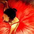 La Ballerine Rouge Dans Le Theatre by Rusty Woodward Gladdish