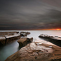 La Jolla Reef Sunset by Larry Marshall