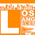 LA Orange Poster by Naxart Studio