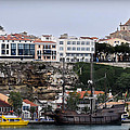 A Galleon At Bottom Of Port Mahon Menorca One Of The Largest Natural Harbours In The World by Pedro Cardona Llambias