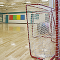 Lacrosse Goals In A Gymnasium by Marlene Ford