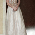 Lacy In Ecru Lace Gown by Jill Battaglia
