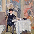 Lady At A Cafe Table  by Harry J Pearson