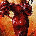 Lady In Red 33 by Emerico Imre Toth
