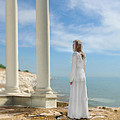 Lady In White By The Sea by Jill Battaglia