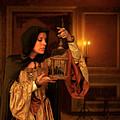 Lady Intudor Gown With Bird by Jill Battaglia