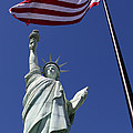 Lady Liberty And Us Flag by Steve Javorsky