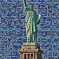 Lady Liberty Mosaic by Susan Candelario