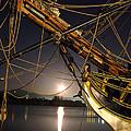 Lady Washington - Moonlight On Coos Bay by Gary Rifkin
