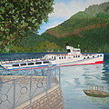 Lago Di Como Ferry by Linda Scott