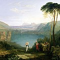 Lake Avernus - Aeneas And The Cumaean Sibyl by Joseph Mallord William Turner