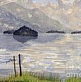 Lake Kilarney Ring Of Kerry Watercolour Painting by Edward McNaught-Davis