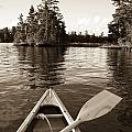 Lake Of The Woods, Ontario, Canada Boat by Keith Levit