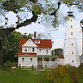 Lake Park Lighthouse by Geoff Strehlow