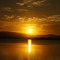 Lake Samsonvale Sunset by Peter Lombard