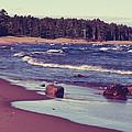 Lake Superior Beach Waves  by Phil Perkins