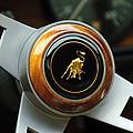 Lamborghini Steering Wheel Emblem by Jill Reger