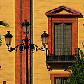Lamp And Window In Sevilla Spain by Greg Matchick