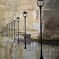 Lamp Posts And Concrete by Anita Burgermeister
