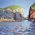 Land And Sea No I - Ramsey Island by Anna Teasdale