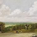 Landscape - Ploughing Scene In Suffolk by John Constable