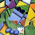 Landscape And Houses At Ceret by Juan Gris