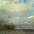 Landscape With Huts by Leopold Karl Walter von Kalckreuth