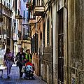 Lane In Palma De Majorca Spain by David Smith
