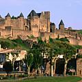 Languedoc Roussillon Carcassonne La Cite, 12th Century Castle, Carcassonne, Languedoc-roussillon, France, Europe by John Elk III