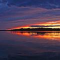 Languid Sunset Lake Nakamun by David Kleinsasser