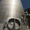 Large Steel Vat For Wine Making by James Forte