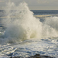 Large Waves On Rocky The Coast Maine by Keith Webber Jr
