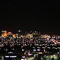 Las Vegas Nevada Nighttime Skyline by Carl Deaville