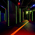 Laser Game Area With Obstacles by Corepics