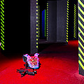 Laser Game Playing Space With Walls by Corepics