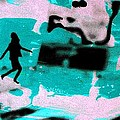 Last Minute - Digital Art Neon Colors by Arte Venezia