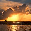 Late Afternoon Beach Walk by Douglas Barnard