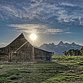 Late Evening At Moulton Barn by Greg Nyquist