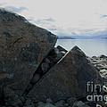Laughing Rock On Lake Tekapo Foreshore.o by Nareeta Martin