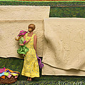 Laundry - Crop Of Original - To See Complete Artwork Click View All by Anne Klar